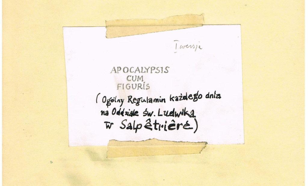 APOCALYPSIS CUM FIGURIS - projekt - Marek Chlanda